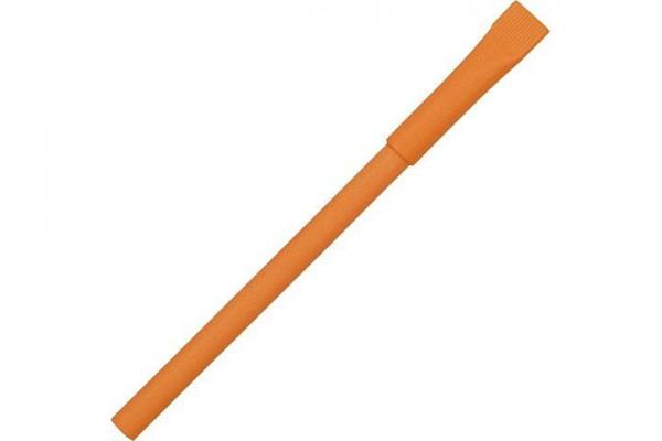 Ручка картонная с колпачком Recycled, оранжевый