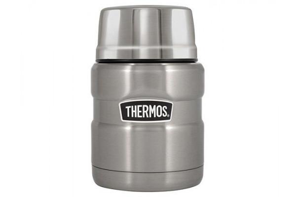 Термос из нерж. стали с ложкой тм THERMOS SK3000-SBK 0,47L, стальной