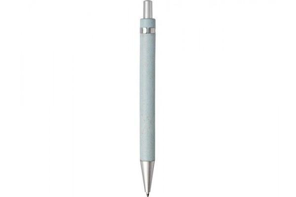 Шариковая ручка Tidore из пшеничной соломы с кнопочным механизмом, синий