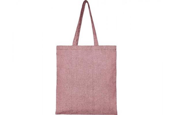 Эко-сумка Pheebs из переработанного хлопка, плотность 210 г/м², heather maroon