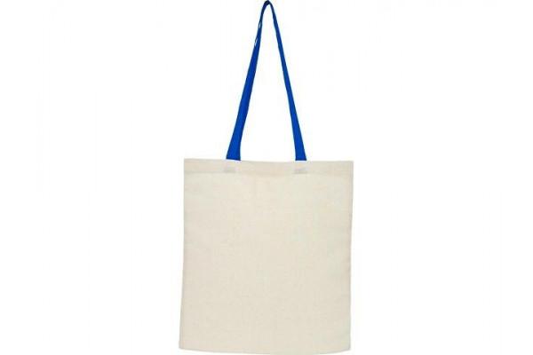 Складная эко-сумка Nevada из хлопка плотностью 100г/м², синий