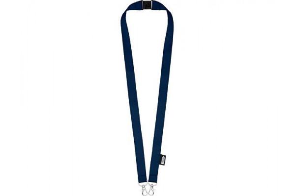 Ремешок Adam с двумя крючками-карабинами, изготовленный из переработанного ПЭТ, темно-синий
