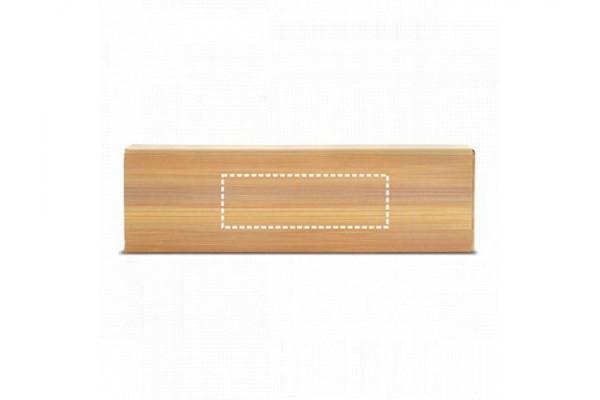 GREENY. Набор шариковой ручки и механического карандаша из бамбука, Натуральный