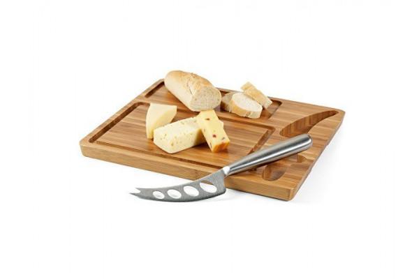 MALVIA. Доска для сыров из бамбука, с ножом, Натуральный