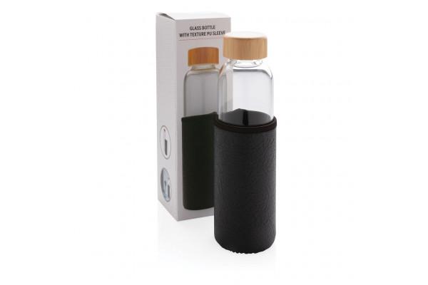 Стеклянная бутылка с чехлом