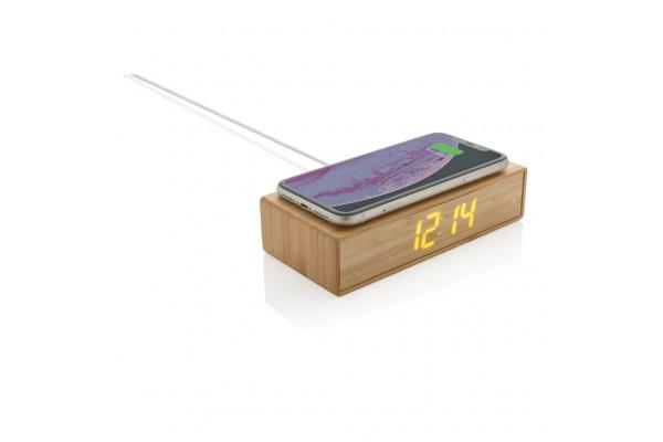 Беспроводная док-станция Bamboo со встроенными цифровыми часами, 5 Вт