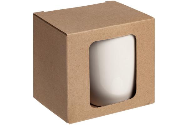 Коробка с окном для кружки Window, крафт