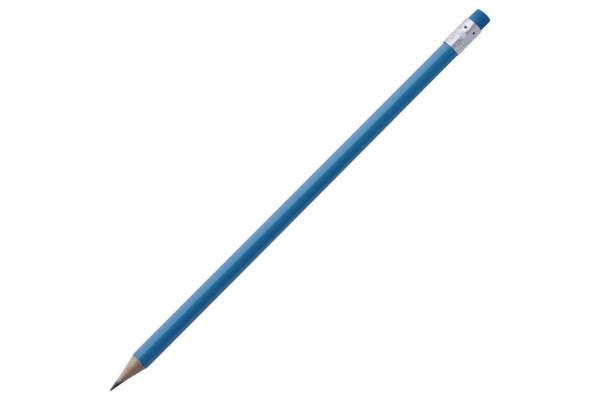 Карандаш простой Triangle с ластиком, синий
