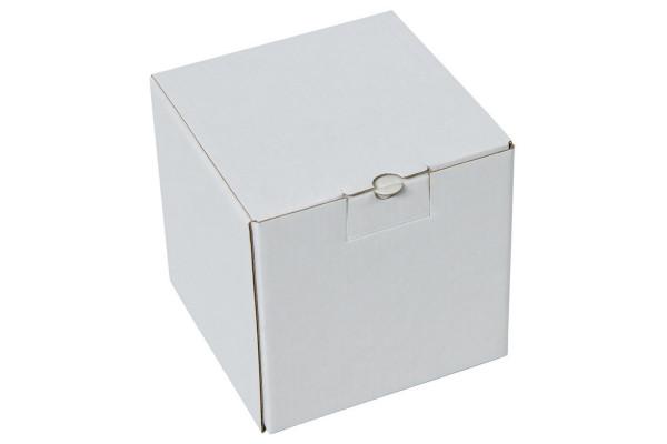 Коробка подарочная для кружки, размер 11*11*11 см., микрогофрокартон белый
