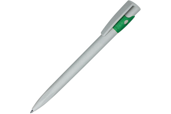 KIKI ECOLINE, ручка шариковая, серый/зеленый, экопластик