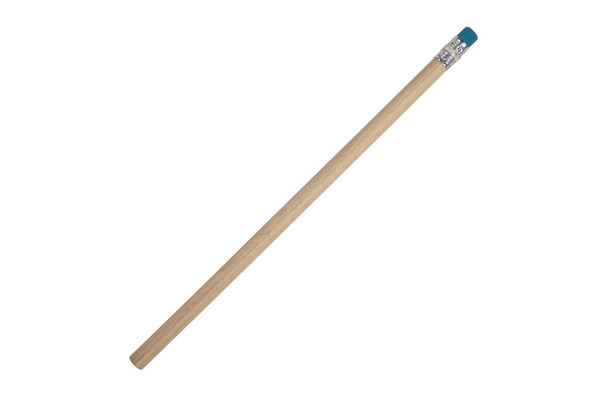 Карандаш простой TOGI с ластиком, синий, 19см, дерево
