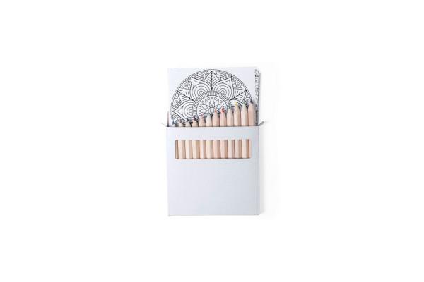 Набор цветных карандашей с раскрасками BOLTEX, 9х9х1см, бумага, дерево, картон