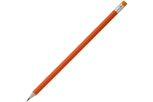 Карандаш простой Hand Friend с ластиком, оранжевый