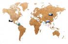 Деревянная карта мира World Map True Puzzle Large, коричневая