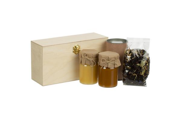 Набор с чаем и медом Right Bees, крафт