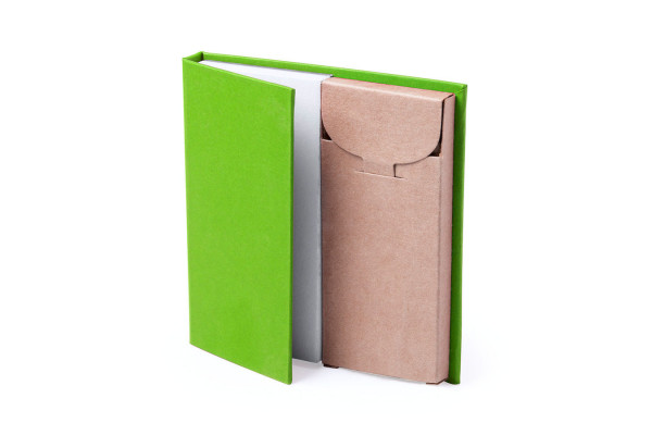 Набор LUMAR: листы для записи (60шт) и цветные карандаши (6шт), зеленый, картон, дерево