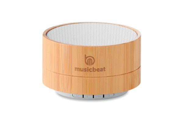 Колонка беспроводная из бамбука