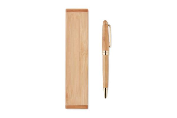 Бамбуковая шариковая ручка твис