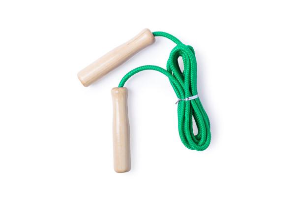 Скакалка GALTAX, зеленый, дерево, полиэстер