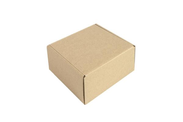Коробка подарочная mini BOX, размер 16*15*8 см, картон МГК бур., самосборная