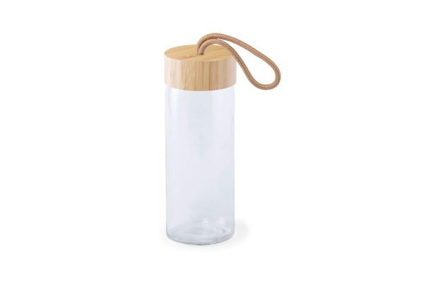 Бутылка для воды BURDIS, 420 мл, стекло/бамбук