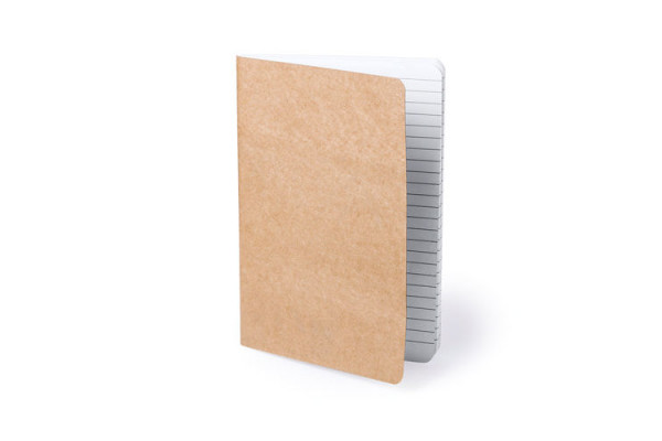 Блокнот ZURIX , бежевый, 14,4 x 21 x 0,8см, переработанный картон