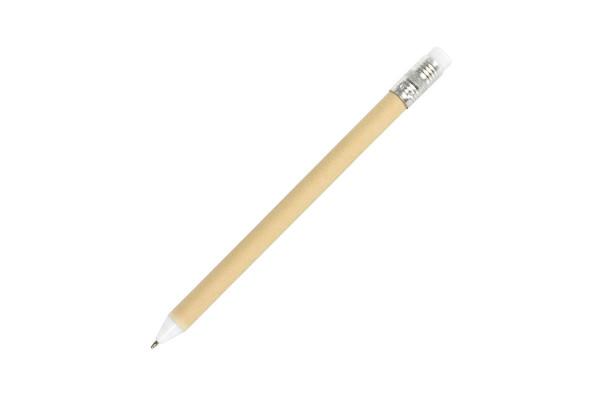 N12, ручка шариковая, белый, картон, пластик, металл