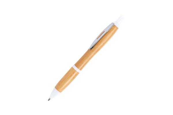DAFEN, ручка шариковая, белый, бамбук, пластик, металл