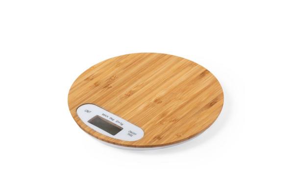 Весы настольные HINFEX, 19,3х1,7см, бамбук