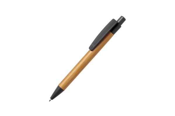 SYDOR, ручка шариковая, черный, бамбук, пластик с пшеничной соломой