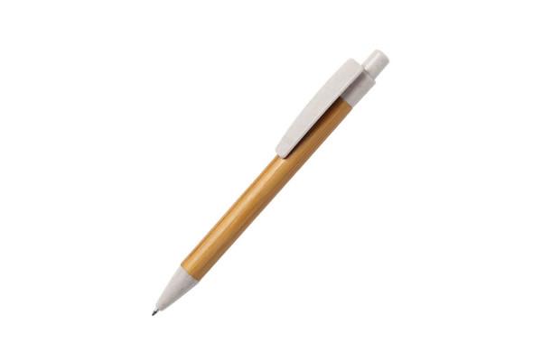 SYDOR, ручка шариковая, натуральный, бамбук, пластик с пшеничной соломой