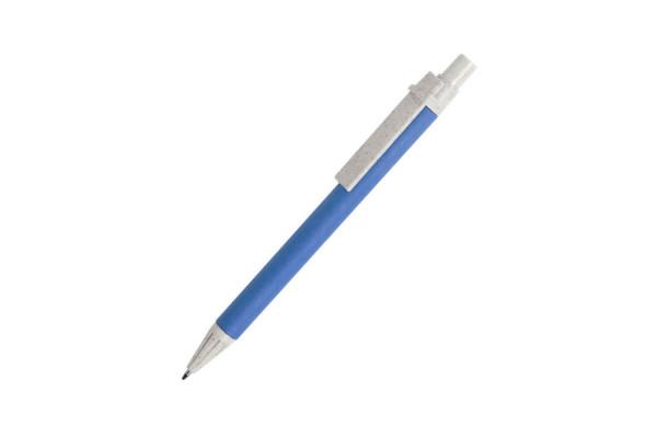 SALCEN, ручка шариковая, голубой, рециклированный картон, пластик с пшеничным волокном