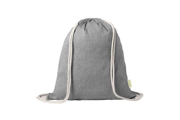 Рюкзак KONIM, черный, 42x38 см, 100% переработанный хлопок, 120 г/м2