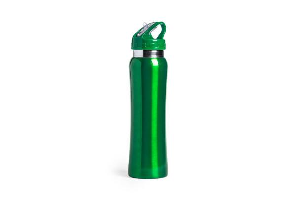 Бутылка для воды SMALY с трубочкой, зелёный,  800 мл, нержавеющая сталь