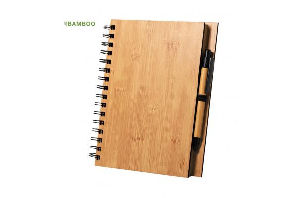 Набор из блокнота  и шариковой ручки POLNAR, бамбук