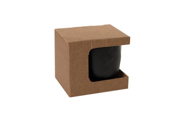 Коробка для кружки 13627, 23502, размер 12,3х10,0х10,8 см, микрогофрокартон, коричневый