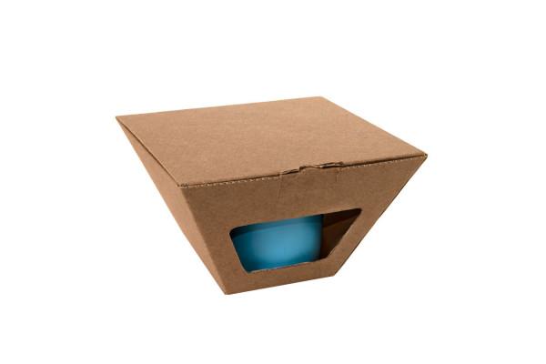 Коробка для чайных пар 27600, 27800, размер 17,2х10,94х8,2 см,  микрогофрокартон, коричневый