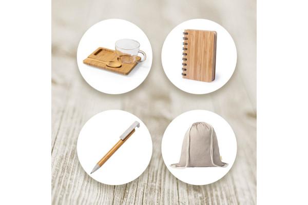 Набор подарочный INBAMBOO: чашка, ложка, подставка, блокнот, ручка, рюкзак