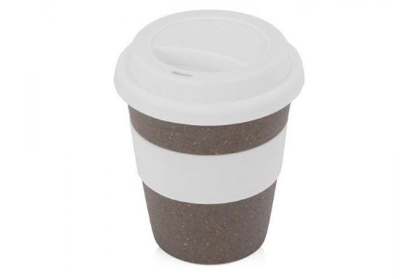 Стакан с силиконовой крышкой Café, белый