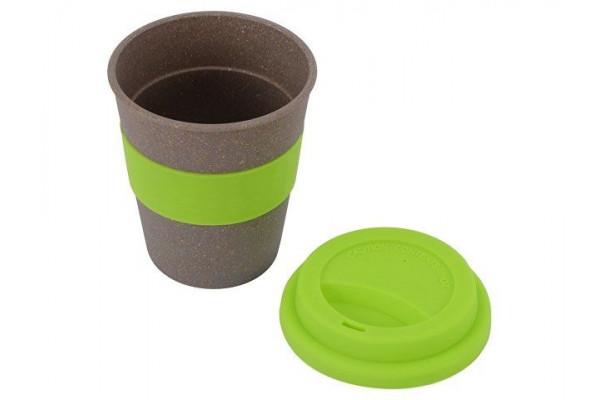Стакан с силиконовой крышкой Café, зеленое яблоко