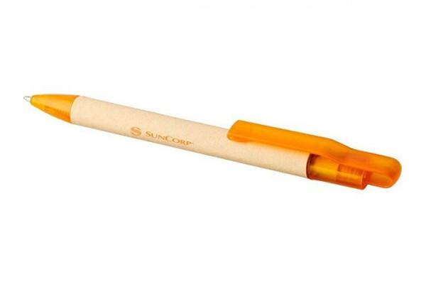 Шариковая ручка Safi из бумаги вторичной переработки, оранжевый