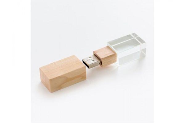 USB-флешка на 512 Mb, дерево