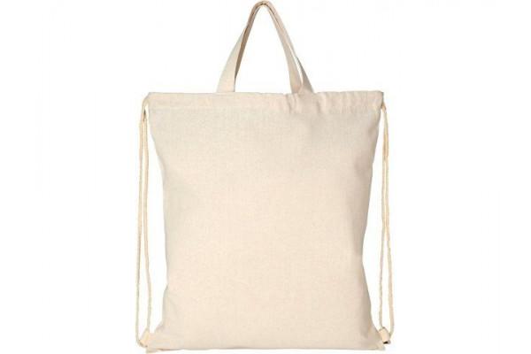 Рюкзак со шнурком Pheebs из 210г/м² переработанного хлопка, натуральный