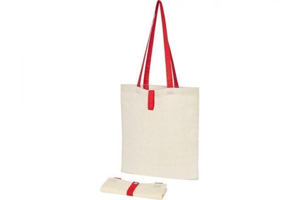 Складная эко-сумка Nevada из хлопка плотностью 100г/м², красный