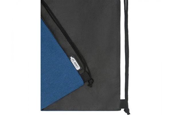 Рюкзак со шнурком Ross из переработанного ПЭТ, heather navy