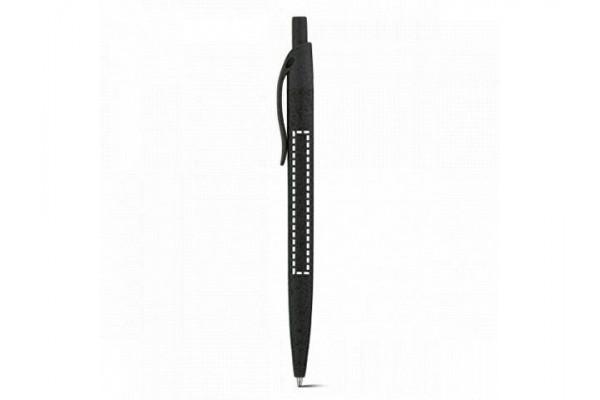CAMILA. Шариковая ручка из волокон пшеничной соломы и ABS, Оранжевый