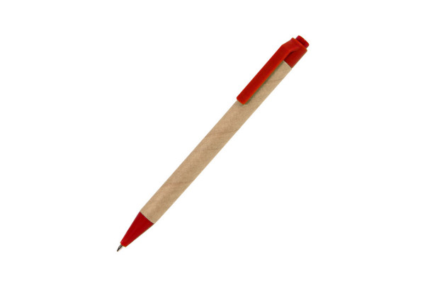 GREEN TOUCH, ручка шариковая, красный, картон/пластик