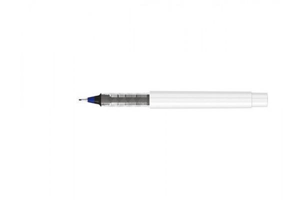 Капиллярная ручка в корпусе из переработанного материала rPET RECYCLED PET PEN PRO FL, белый с синими чернилами