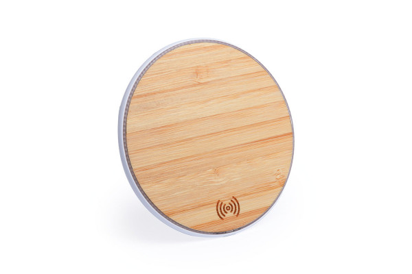 Беспроводное зарядное устройство NEMBAR (5W), пластик, бамбук