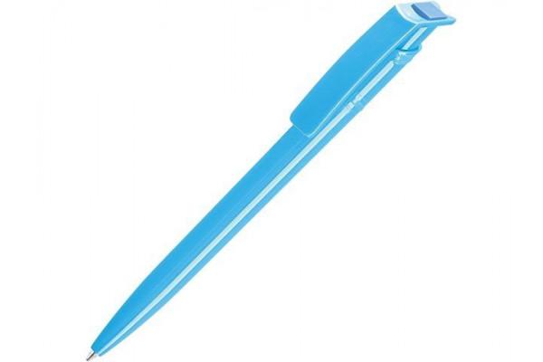 Ручка шариковая пластиковая RECYCLED PET PEN, синий, 1 мм, голубой
